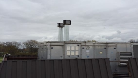 Officials believe the heat exchangers on the roof of Eaton Elementary are allowing burnt gas back into the building's airflow. After six months and nearly $100,000, they are hoping the vent shields and longer flues on the gas pipes will stop the smell.