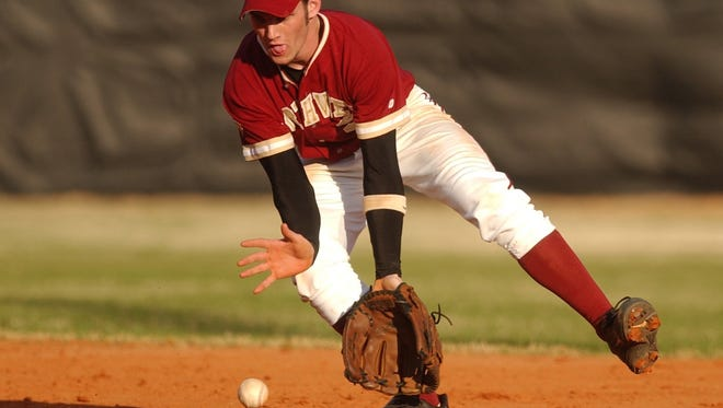 A Northview player catches a grounder.