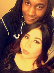 Kaleek Jones with his fiancee, Alyssa Miller.