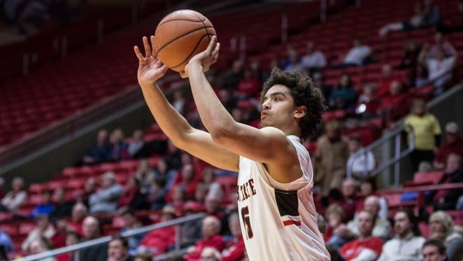 Ball State's Zach Gunn scored a career-high 16 points on Saturday against Toledo.
