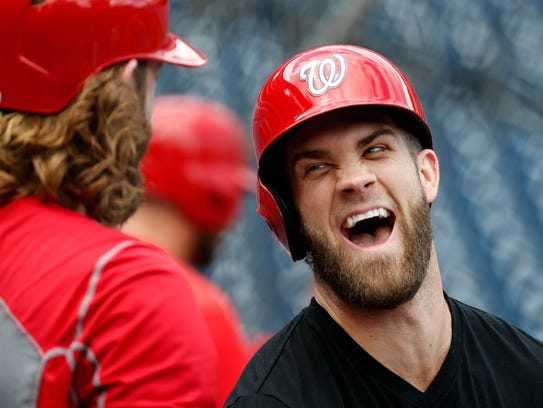 Bryce Harper appears recovered from a thumb injury,