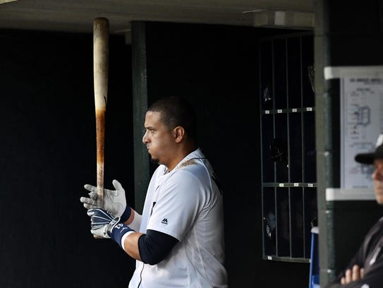 Tigers designated hitter Victor Martinez will be 39