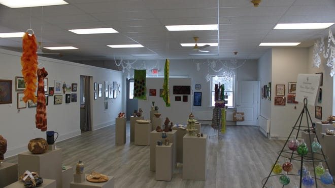 The interior of the Adrian Center for the Arts (ACA) gallery, is pictured during the 2020 Holiday Art Sale held last month. Over 30 local artists participated in the 2020 event. The Gallery is home to periodic art exhibitions and art sales.