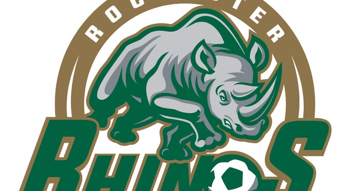 One of the new logos for the Rochester Rhinos, the reigning USL champions who have new owners, David and Wendy Dworkin, who'll be officially introduced on Thursday.