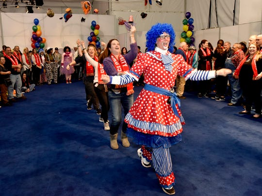 Stars of the Big Apple Circus train volunteers on the art of clowning at Macy's Clown U. in preparation for the 91st annual Macy's Thanksgiving Day Parade on Nov. 23 in Manhattan.
