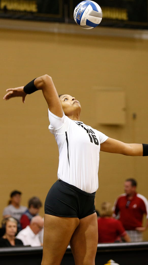 Sherridan Atkinson helped Purdue volleyball win its