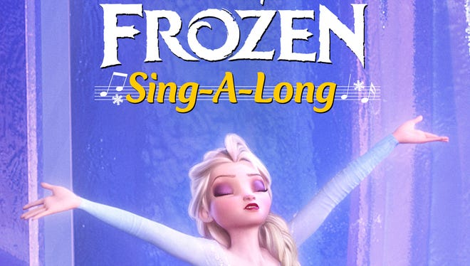 Disney will release a sing-a-long 'Frozen' on Friday in 1,000 theaters.