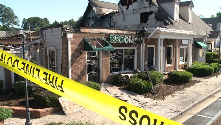 A fire destroyed several businesses in Peachtree Corners