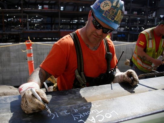Iron worker Tyler (Twonky) Smith, 36, of Portland,