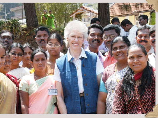 Jill Briscoe's mission field has included India.