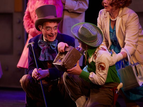 Scott Treadway as Willy Wonka and Gage Filiporic as