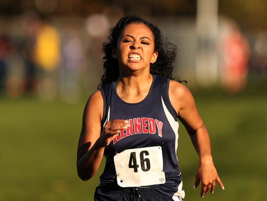 Kennedy's Azaris Velazquez finishes third in the 3A/2A/1A-SD2