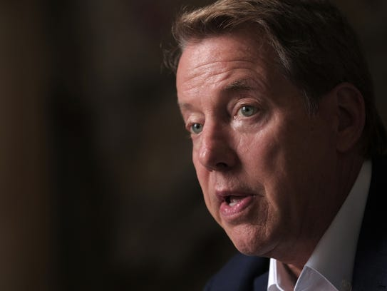 Ford Motor Co. Executive Chairman Bill Ford Jr. talks about his life and the acquisition of the Michigan Central Station in Detroit's Corktown neighborhood in Detroit on Wednesday, June 13, 2018.