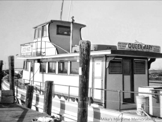 The original Queen Mary, pictured, was built 1961 at Gillikin's Boat Works in Harkers Island, North Carolina.