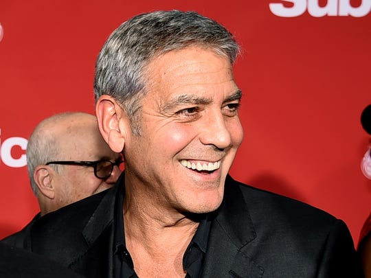 George Clooney on Oct. 22, 2017 in Los Angeles.