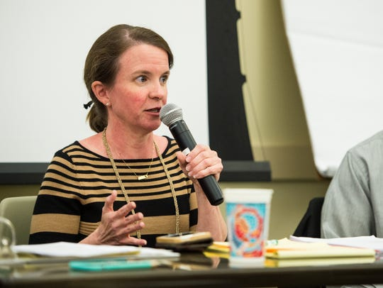Carlee Alm-Labar, president of Fix the Charter, is shown in this 2015 file photo.