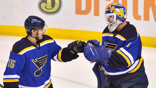 Rookie Robby Fabbri and goalie Brian Elliott have been important players to the St. Louis Blues' success.