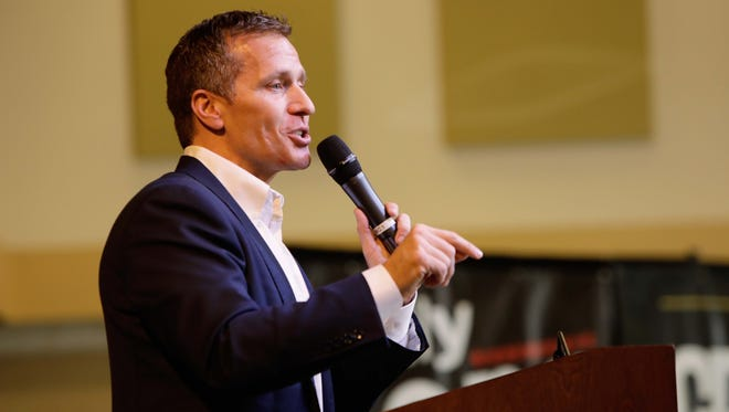 The Greene County Republican Party gathered for its Lincoln Days. Governor Eric Greitens speaks.