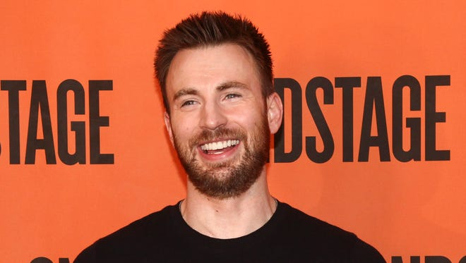 Chris Evans attends the 'Lobby Hero' Broadway press meet and greet on Feb. 16, 2018 in New York.