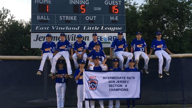 The Buena 50/70 intermediate all-star baseball team won the Section 4 title.