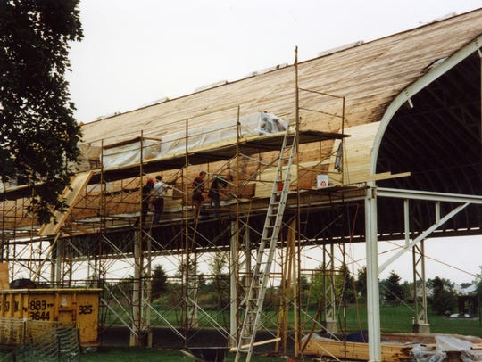 The Museum Building is erected at Grounds For Sculpture