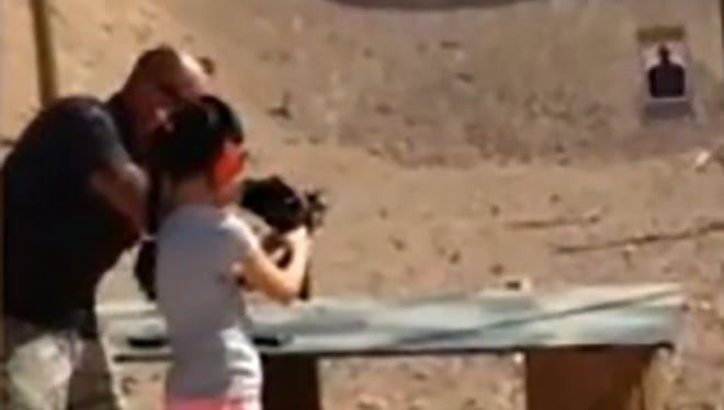 A 9 year-old girl accidentally shot her instructor as he was showing her how to fire an automatic Uzi at a gun range in Arizona.