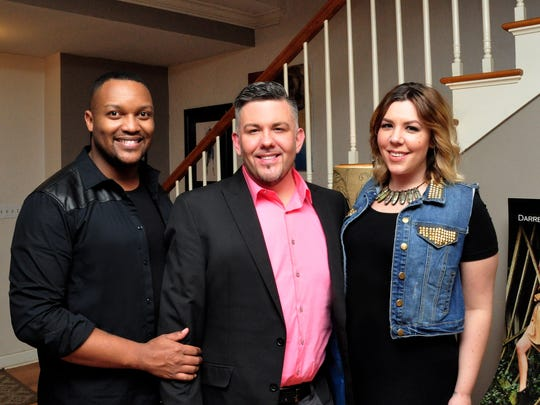 From left: Darren Lykes, Jay Gastineau and Jessica Mikulski at Gastineau's 40th birthday party.