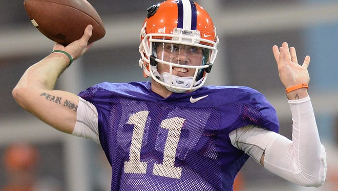 Clemson quarterback Chad Kelly (11) was dismissed from the Clemson football team on Monday.