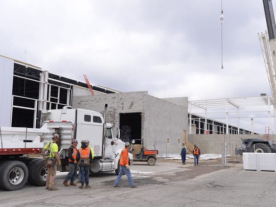 Construction has wrapped on the new General Motors Co. parts logistics center near its Lansing Grand River assembly plant.