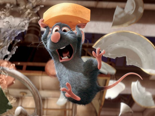 Remy, voiced by Patton Oswalt, appears in a scene from