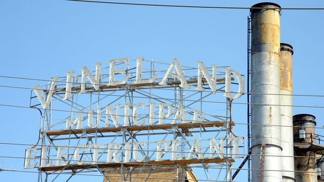 The Vineland Municipal Electric Utility sign