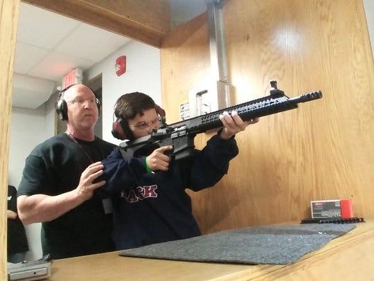 Inside the Union Hill Gun Club.