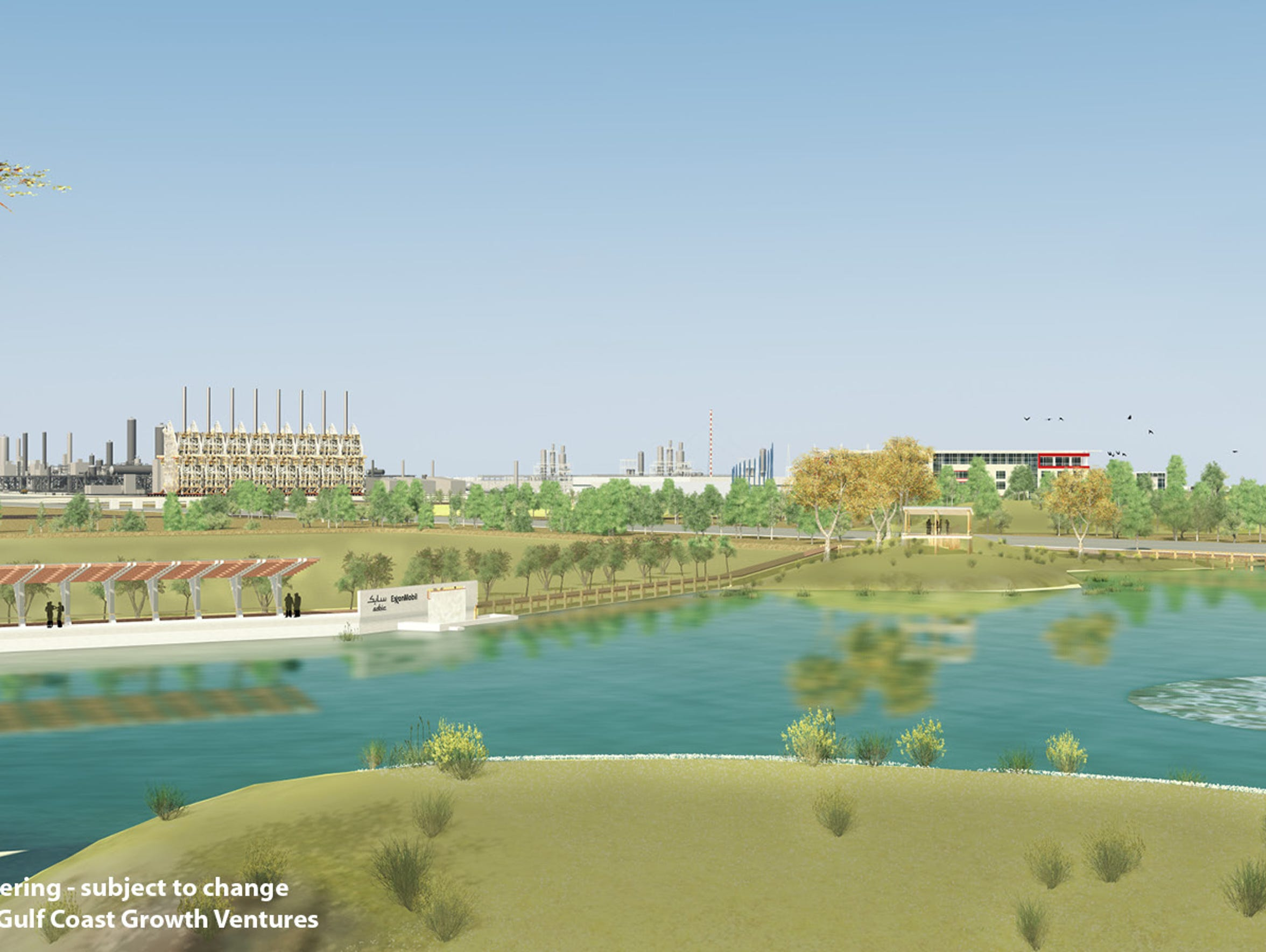 Artist rendering of the Exxon/SABIC site plan for San