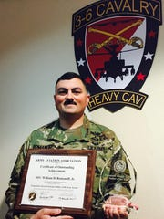 Sgt. 1st Class William Romanoff was named the Unmanned