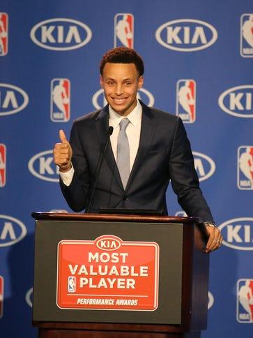 Golden State Warriors guard Stephen Curry wins NBA