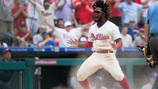 Philadelphia Phillies center fielder Odubel Herrera (37) will be one of the keys if the team will continue to compete for a division title over the season's final two months.