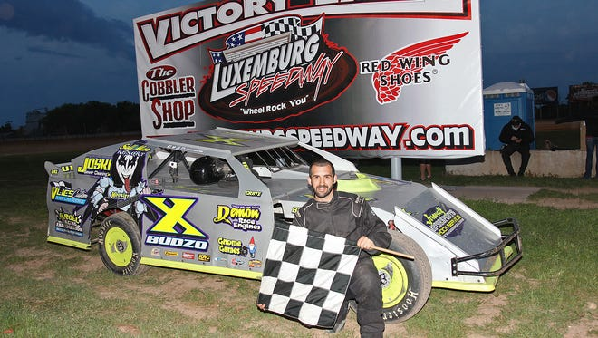 Luxemburg native Chris Budzban, despite running a relatively low-dollar racing operation, finds himself in the points lead at Luxemburg Speedway in the IMCA northern sportmod division.