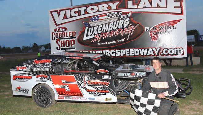 Casco's Josh Lambert has collected heat wins  in his rookie season in the IMCA modified class locally.