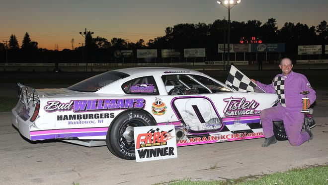 Two Rivers' Brett Wenzel competes on both asphalt and dirt tracks locally, wheeling this late model on Thursday nights at WIR in Kaukauna, and an IMCA stock car Saturday nights at 141 Speedway in Francis Creek.