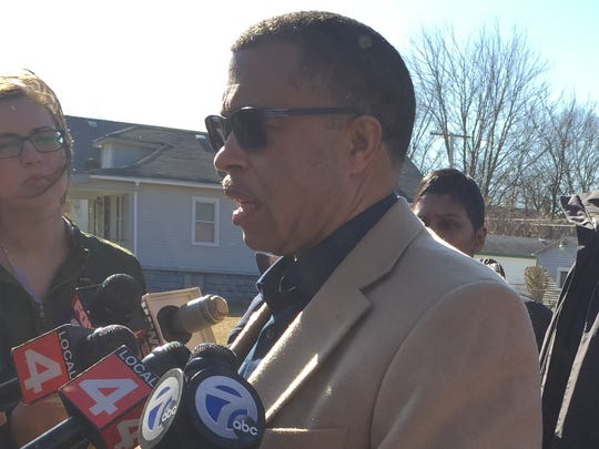 Detroit Police Chief James Craig updatesthe media on the bodies of a woman and female child found after an arson fire at an abandoned house in the 4700 block of Lakeview on Detroit's east side.