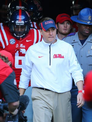 Mississippi Rebels head coach Hugh Freeze.