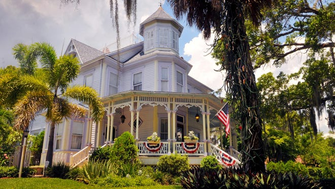 The Old Pineapple Inn Bed & Breakfast in downtown Eau Gallie , the William H. Gleason House built in 1886 Queen Anne Victorian on the National Register of Historic Places owned by Celeste Henry .