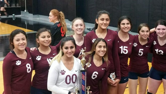 The Deming High Lady Wildcats volleyball team won the title match of the White Bracket at the Jane Leupold Sweet 16 Volleyball Tournament in Las Cruces over the weekend.