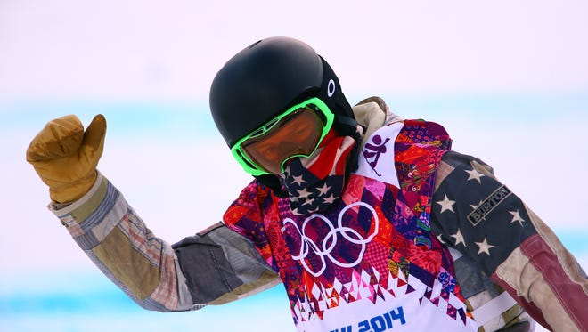 Shaun White (USA) competes during the men's halfpipe snowboarding qualification of the Sochi 2014 Olympic Winter Games at Rosa Khutor Extreme Park on Tuesday.