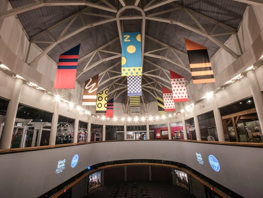 Recent lighting upgrades at the Kentucky Derby Museum