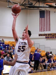 Wylie's Kyle Roberts puts up a shot during Thursday's 60-41 win against Wolfforth Frenship.