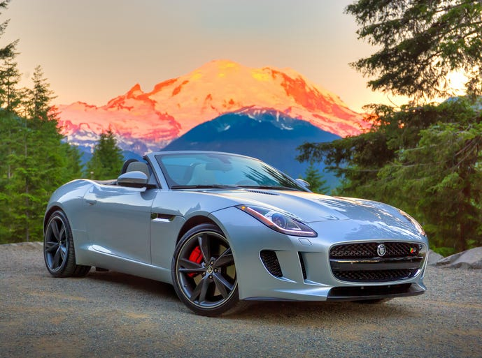 The 2014 Jaguar F-Type is fun before you even get in. Once there, a push of the start button ignites a raucous exhaust note.