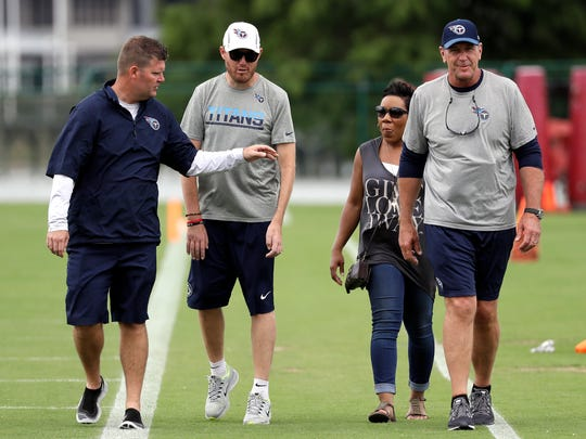 In this June 15, 2017, photo, former Tennessee Titans