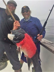 Gil Rowe of Victorville caught a 23-pound sheephead