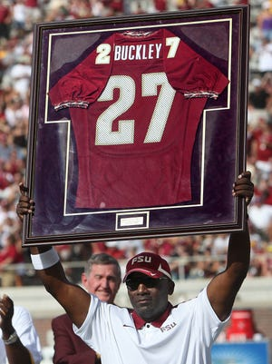 Terrell Buckley's uniform was retired during a ceremony in 2011. Terrell Buckley's uniform was retired during a halftime ceremony. Florida State opened their 2011 campaign with a convincing 34-0 win over visiting Louisiana Monroe on Saturday, September 3, 2011. A stifling Seminole defense stymied ULM for the entire fourth quarters.
